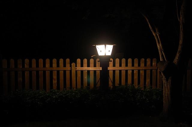 Gartenlicht im Winter